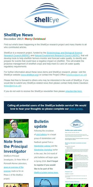 Shelleye Newsletter screenshot