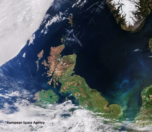 Sentinel-3A's Ocean and Land Colour Instrument is a new eye on Earth. Image courtesy of the European Space Agency