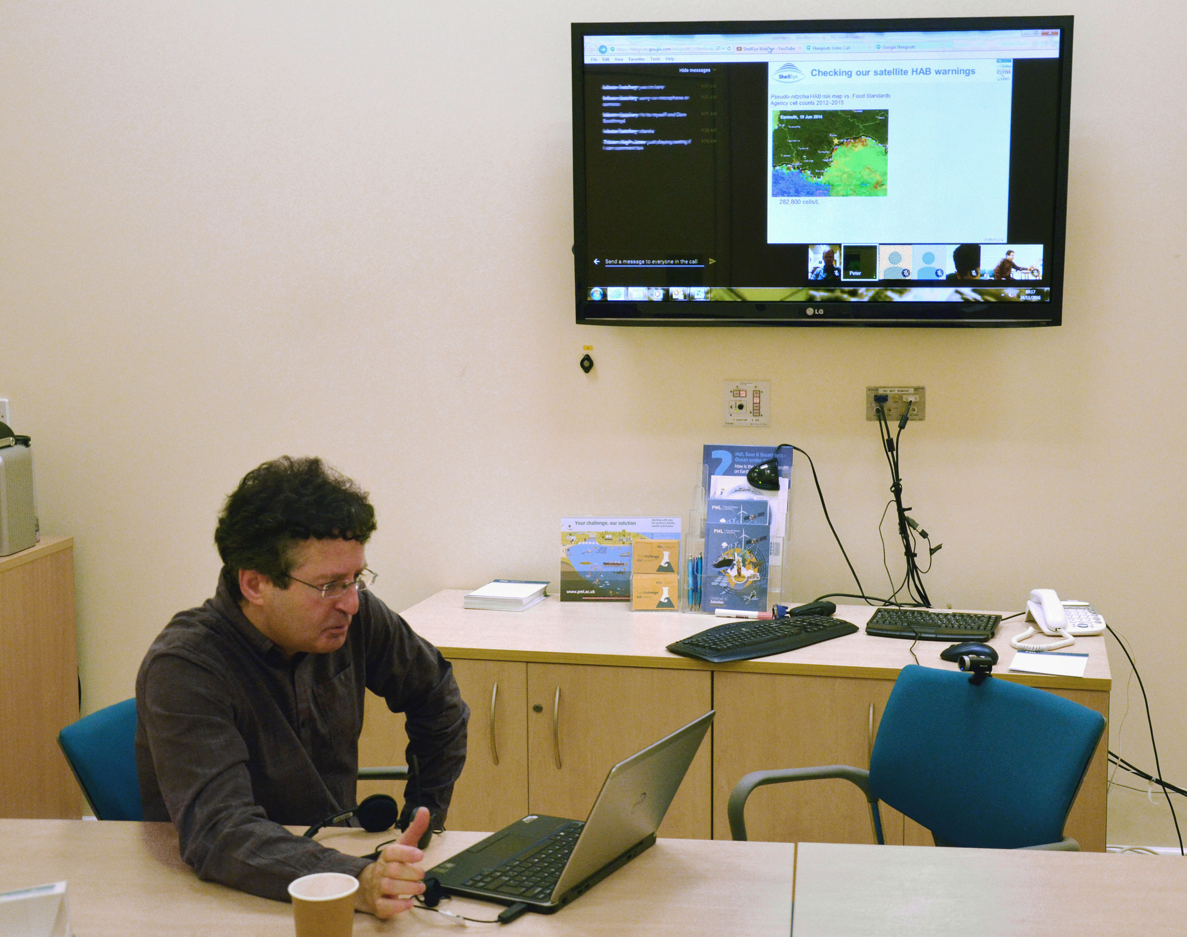 Peter Miller during a web conference